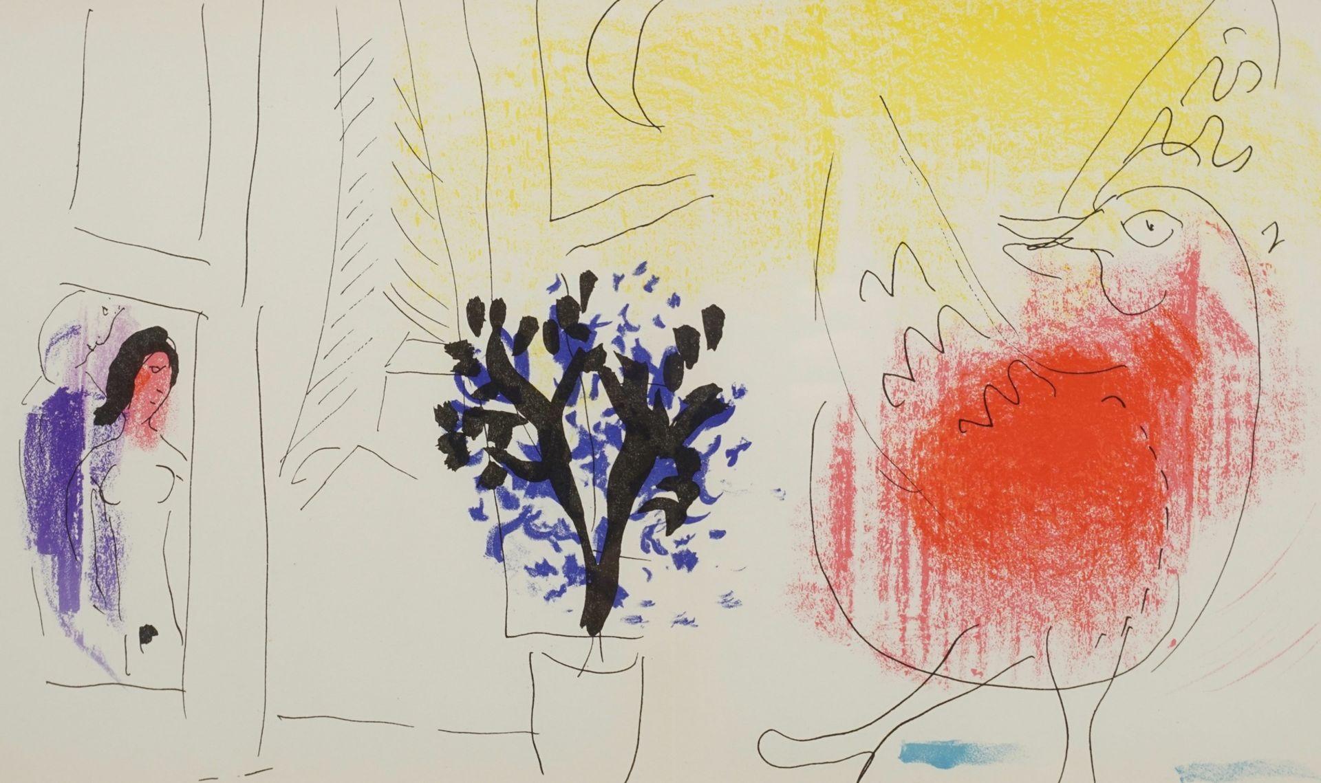 "Marc Chagall, ""Le coq rouge"" (Der rote Hahn)"