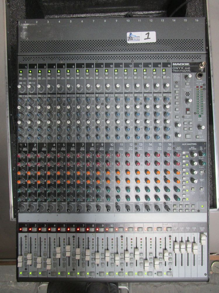 PROFESSIONAL SOUND BOARD/MIXERS, SOUND SUPPORT, AV GEAR AUCTION