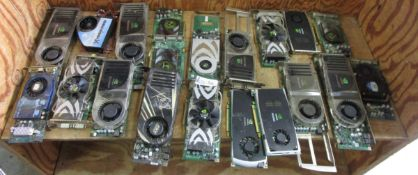 BOX NVIDIA/MORE VIDEO BOARDS/GRAPHIC CARDS APPX 35 PIECES