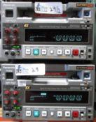 LOT OF 2 PANASONIC AJ-HD1200A DVC PRO