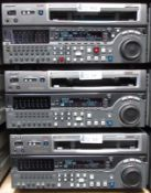LOT OF 3 SONY DIGITAL CASSETTE RECORDERS