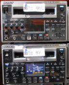 LOT OF 2 SONY HVR-1500A/1500 DV CAM HDV RECORDER