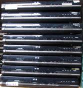 LOT OF 8 TOSHIBA DVD RECORDERS