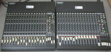 LOT OF 2 MACKIE SOUNDBOARD 1604 VLZPRO