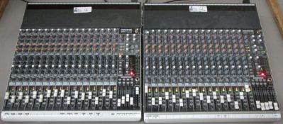 LOT OF 2 MACKIE SOUNDBOARD 1604 VLZ3