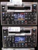 LOT OF 2 SONY HVR-1500A DV CAM HDV RECORDER