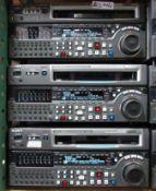 LOT OF 3 SONY MSW-M2000 DVR