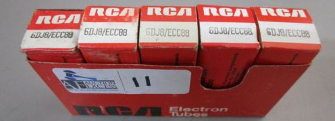 LOT OF 5 RCA 6DJ8/ECC88 TUBES NOS