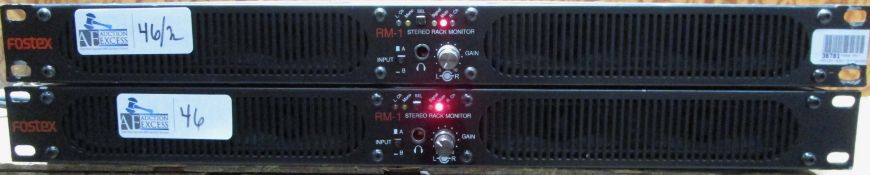 LOT OF 2 FOSTEX RM-1 STEREO RACK MOUNT MONITORS