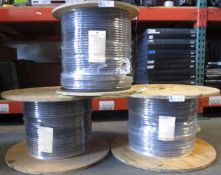 LOT OF 3 SPOOLS INSULATED WIRE