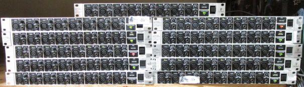 LOT OF 11 BEHRINGER ULTRA GAIN PRO 8 DIGITAL LINE MIC MIXERS