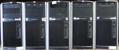 LOT OF 5 HP COMPUTERS