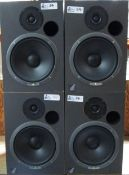 LOT OF 4 EVENT BIAMP SYSTEMS 20/20 POWERED SPEAKERS