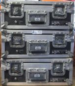 LOT OF 3 CALZONE ROAD CASES