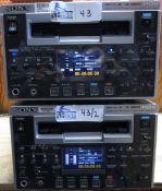 LOT OF 2 SONY HD CAM HDV