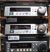 LOT OF 3 SONY HD CAM