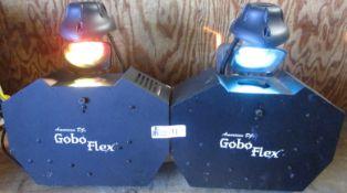 LOT OF 2 AMERICAN DJ GOBO FLEX