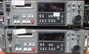 LOT OF 2 SONY PCM-7040 DIGITAL AUDIO RECRDERS