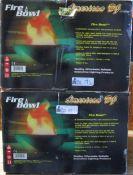 LOT OF 2 AMERICAN DV FIREBOWL IN ORIGINAL BOXES