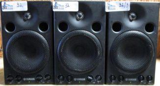 LOT OF 3 YAMAHA MSP3 POWERED SPEAKERS