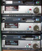 LOT OF 3 PANASONIC AJ-SD930 DVC 50