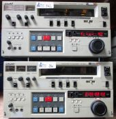 LOT OF 2 SONY VO-9850