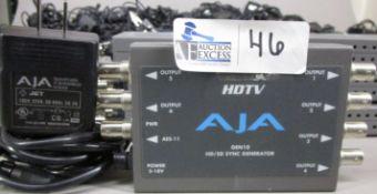 BOX AJA HDTV GEN10 HD/SD SYNC GENERATOR WITH POWER SUPPLIES