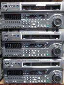 LOT OF 3 SONY DVRS MSW-M2100