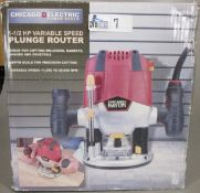 CHICAGO ELECTRIC PLUNGE ROUTER