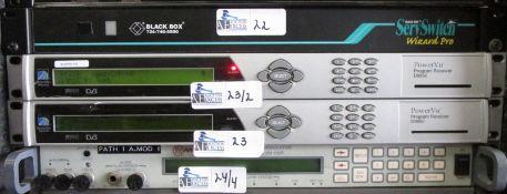 LOT OF 2 SCIENTIFIC ATLANTIC D9850 POWER VU RECEIVERS