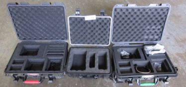 LOT OF 3 PLASTIC PELICAN STYLE CASES