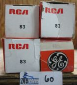 LOT OF 4 RCA/GE 83 TUBES