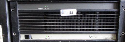 QSC 1700 STEREO AMP