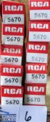LOT OF 10 RCA 5670 TUBES