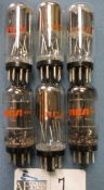 LOT OF 6 6SN7 GTE COIN BASE RCA TUBES