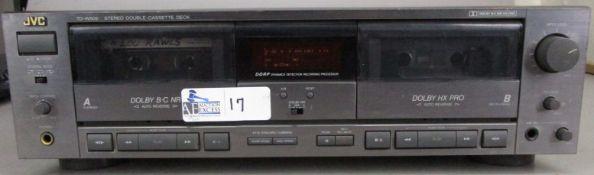 VINTAGE JVC TDD-W505 DUAL CASSETTE DECK