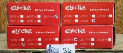 LOT OF 4 ELECTRA EFFECT PEDALS NOS