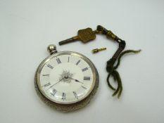 Ladies Antique Silver Fob Watch