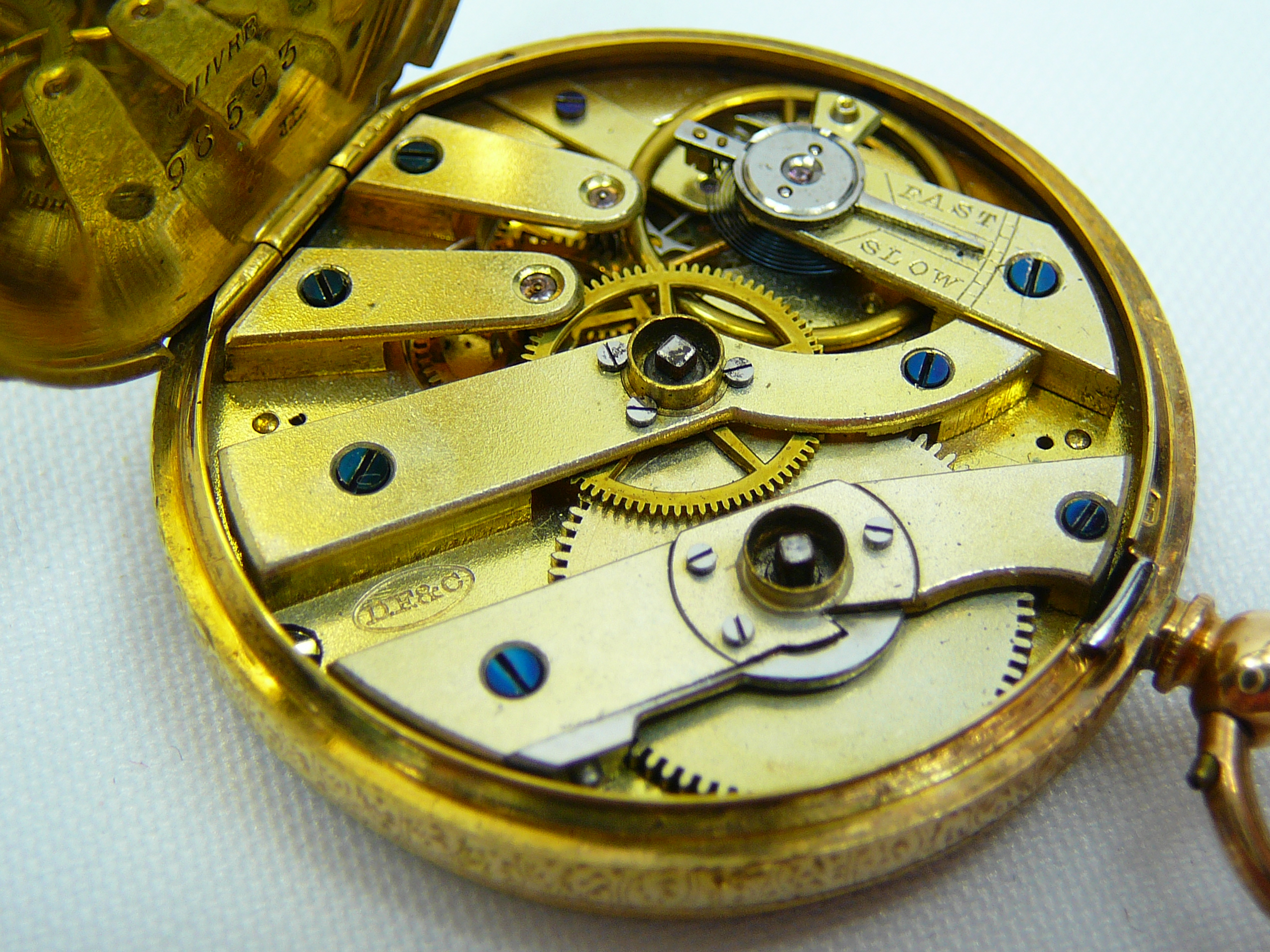 Ladies Antique Gold Fob Watch - Image 5 of 5