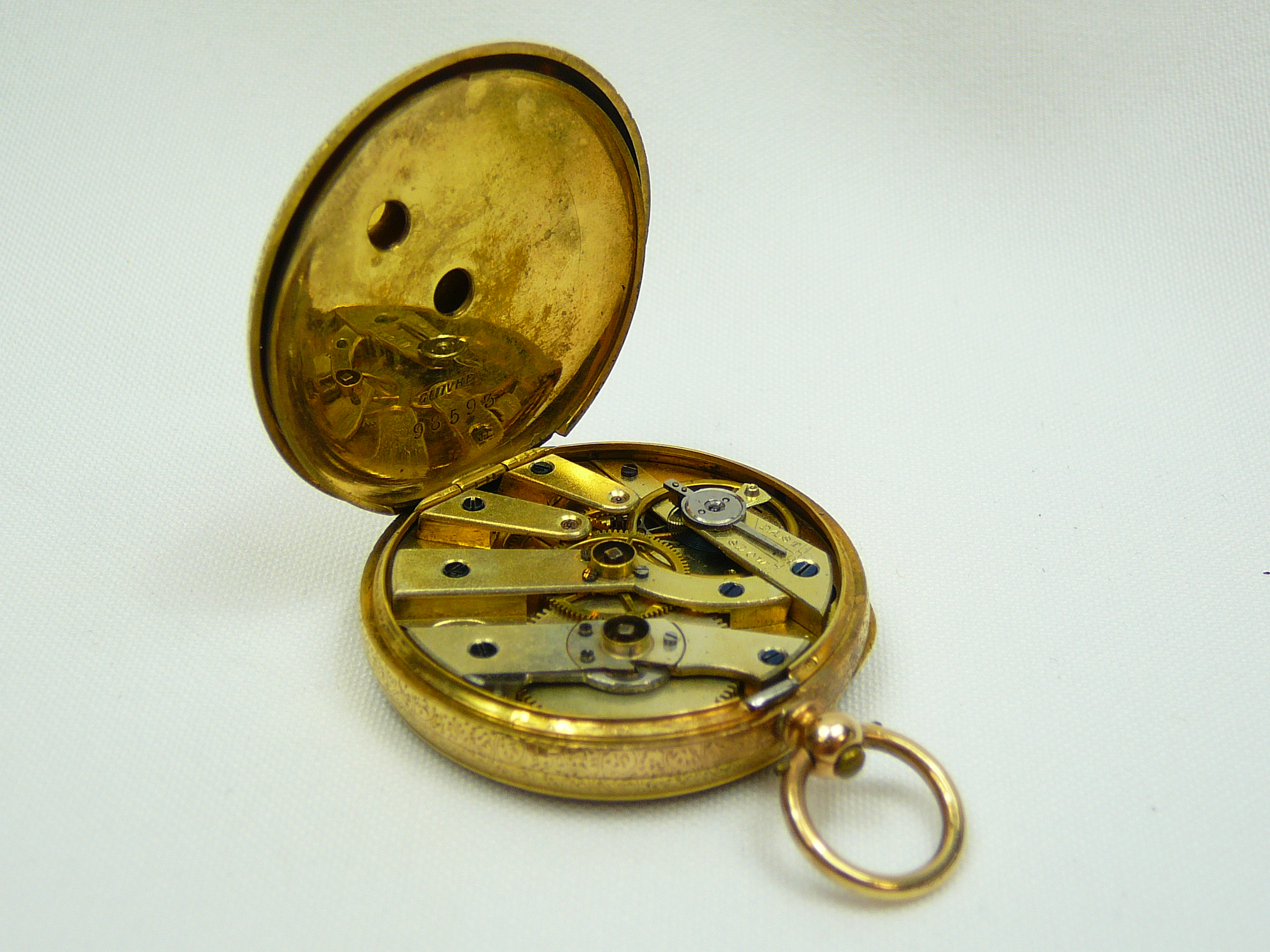 Ladies Antique Gold Fob Watch - Image 4 of 5