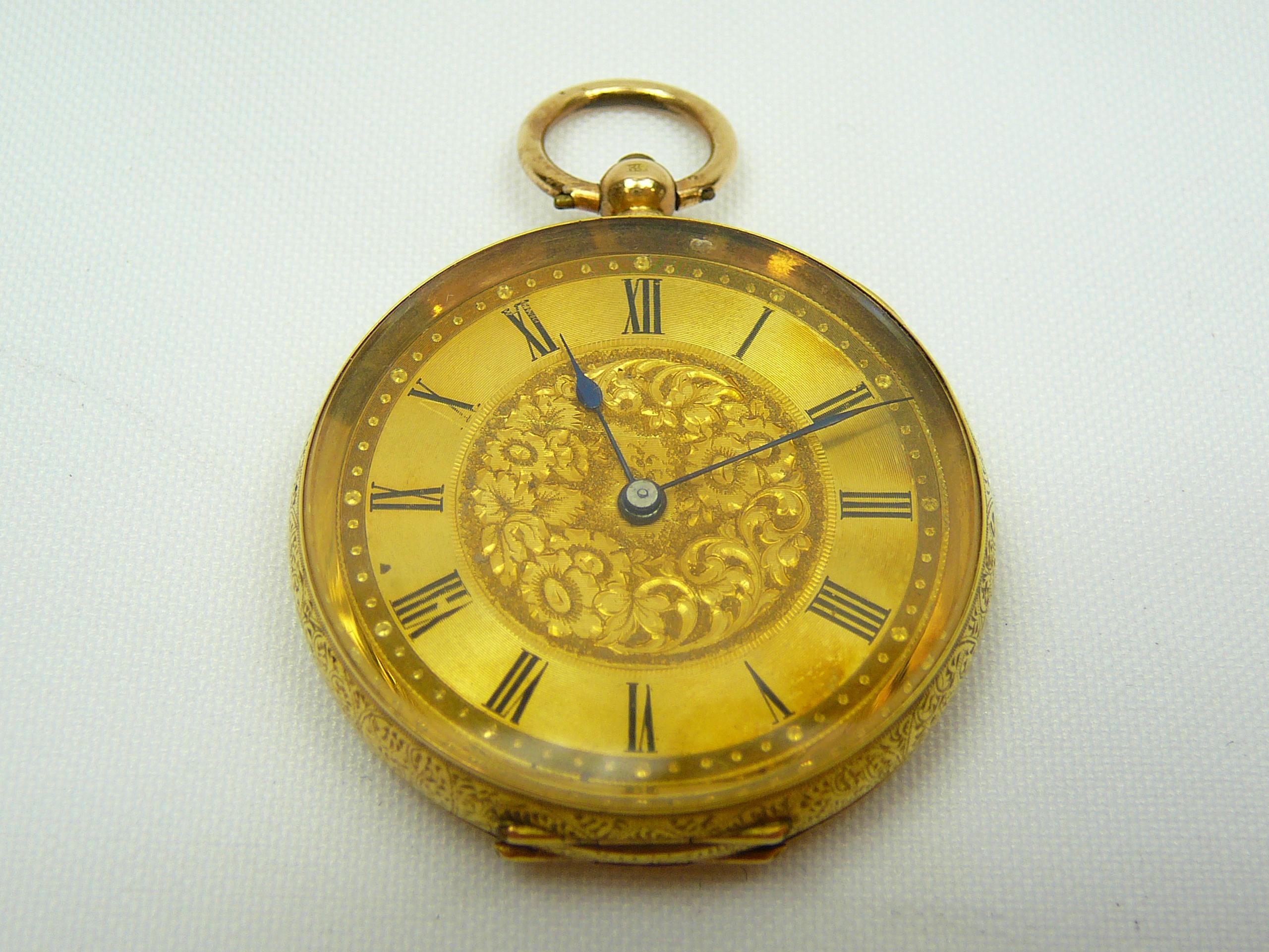 Ladies Antique Gold Fob Watch