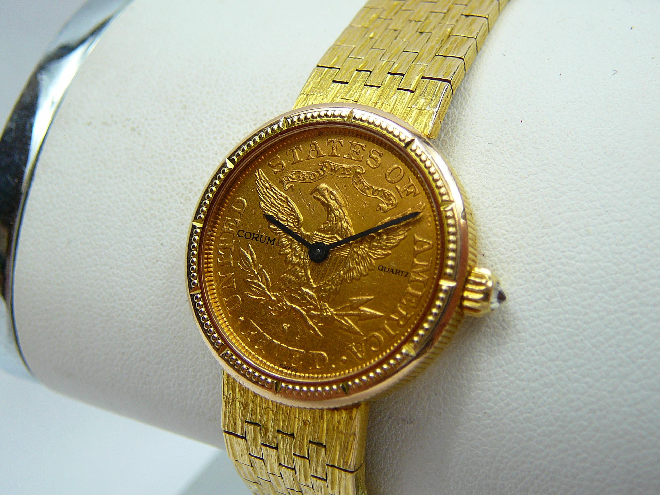 Ladies Gold Corum Wrist Watch - Image 2 of 3