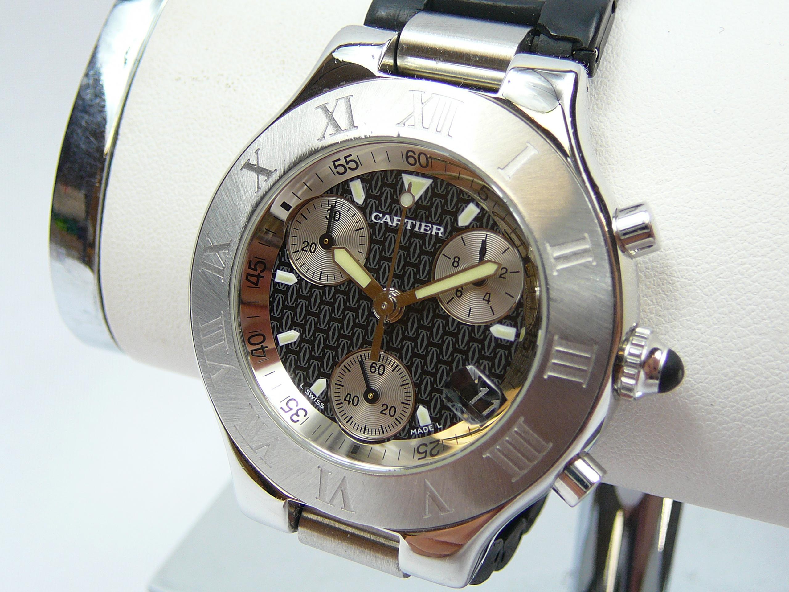 Gents Cartier Wrist Watch - Image 2 of 3