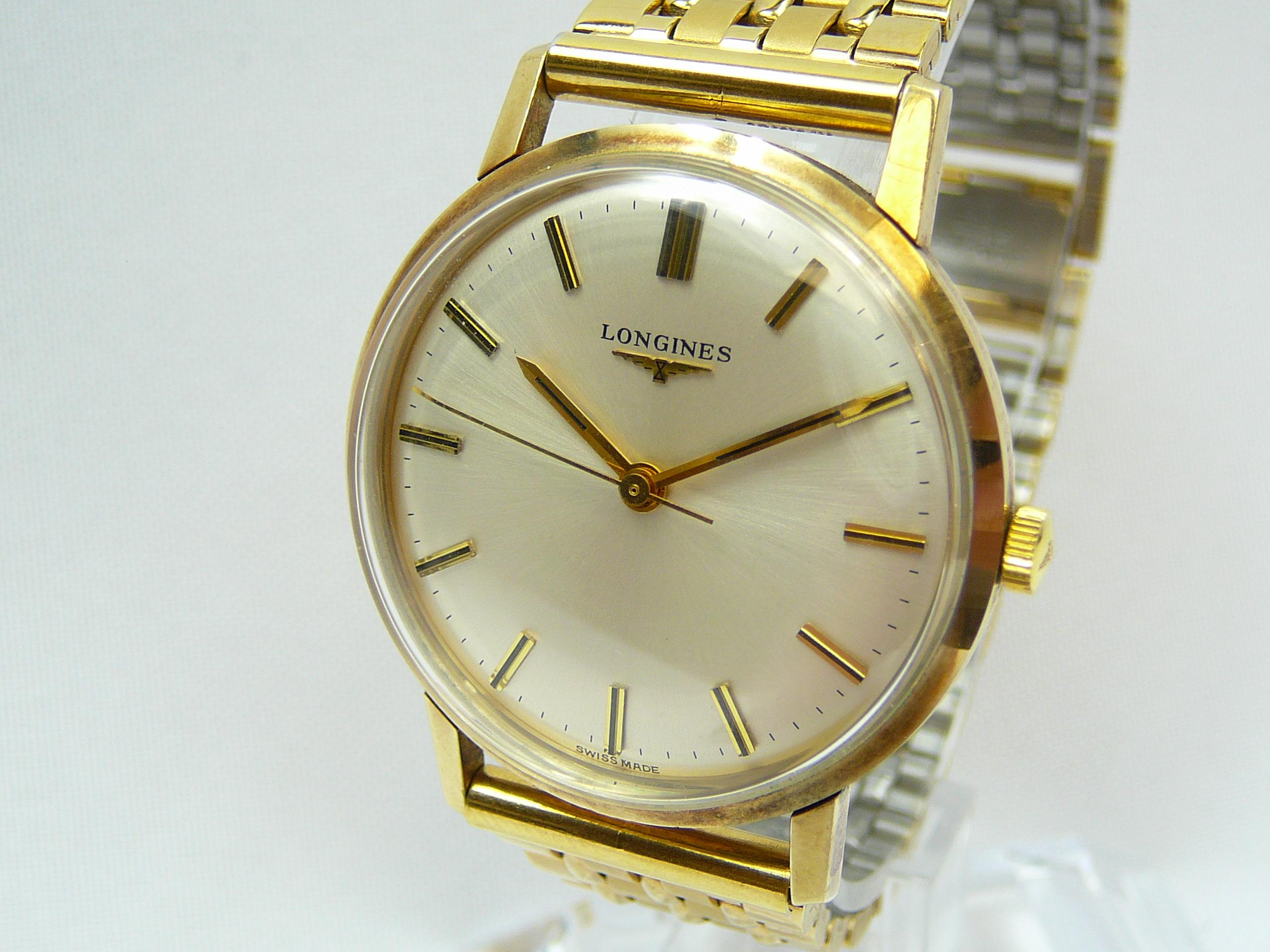 Gents Vintage Gold Longines Wrist Watch - Image 2 of 5