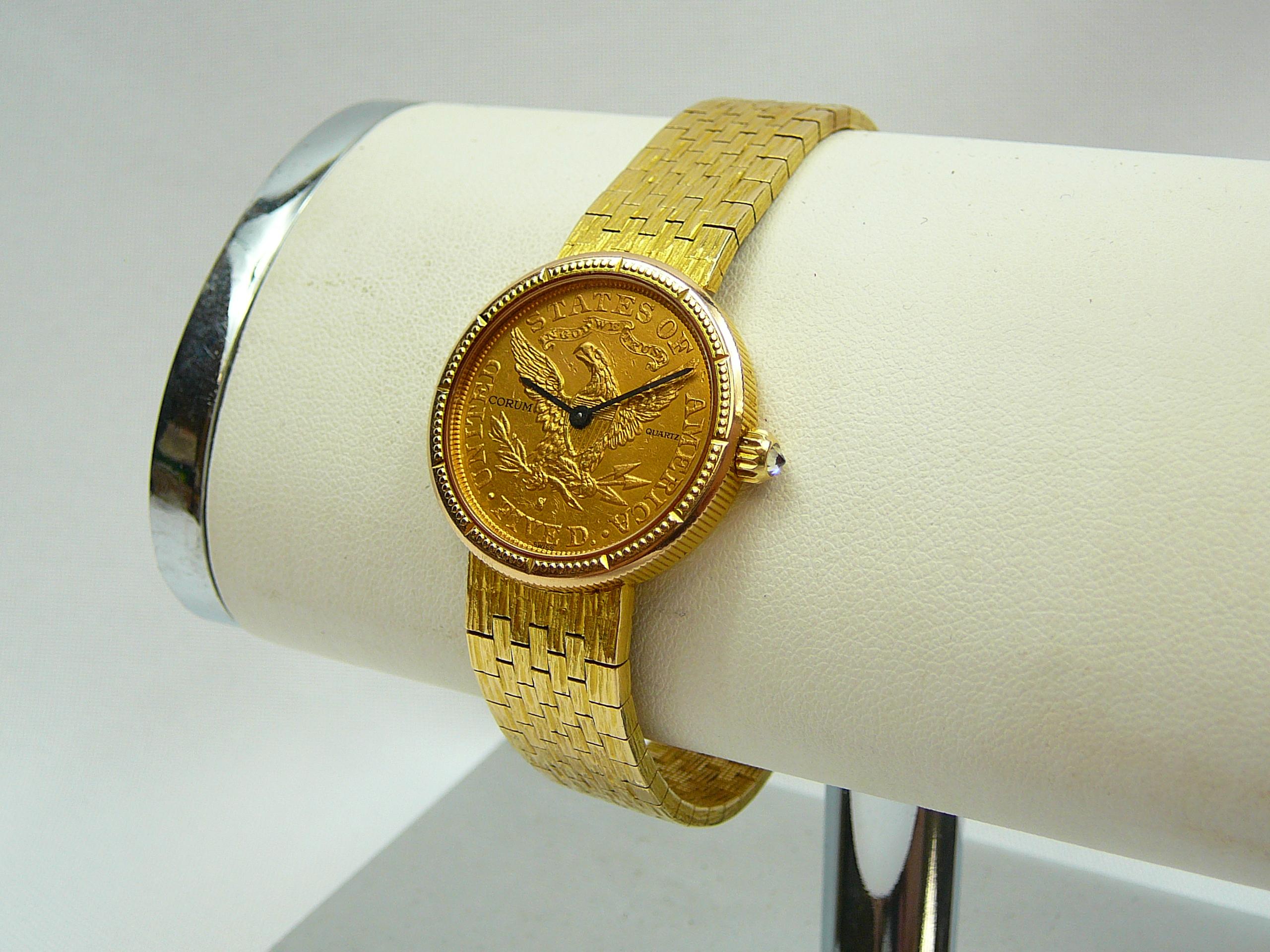 Ladies Gold Corum Wrist Watch