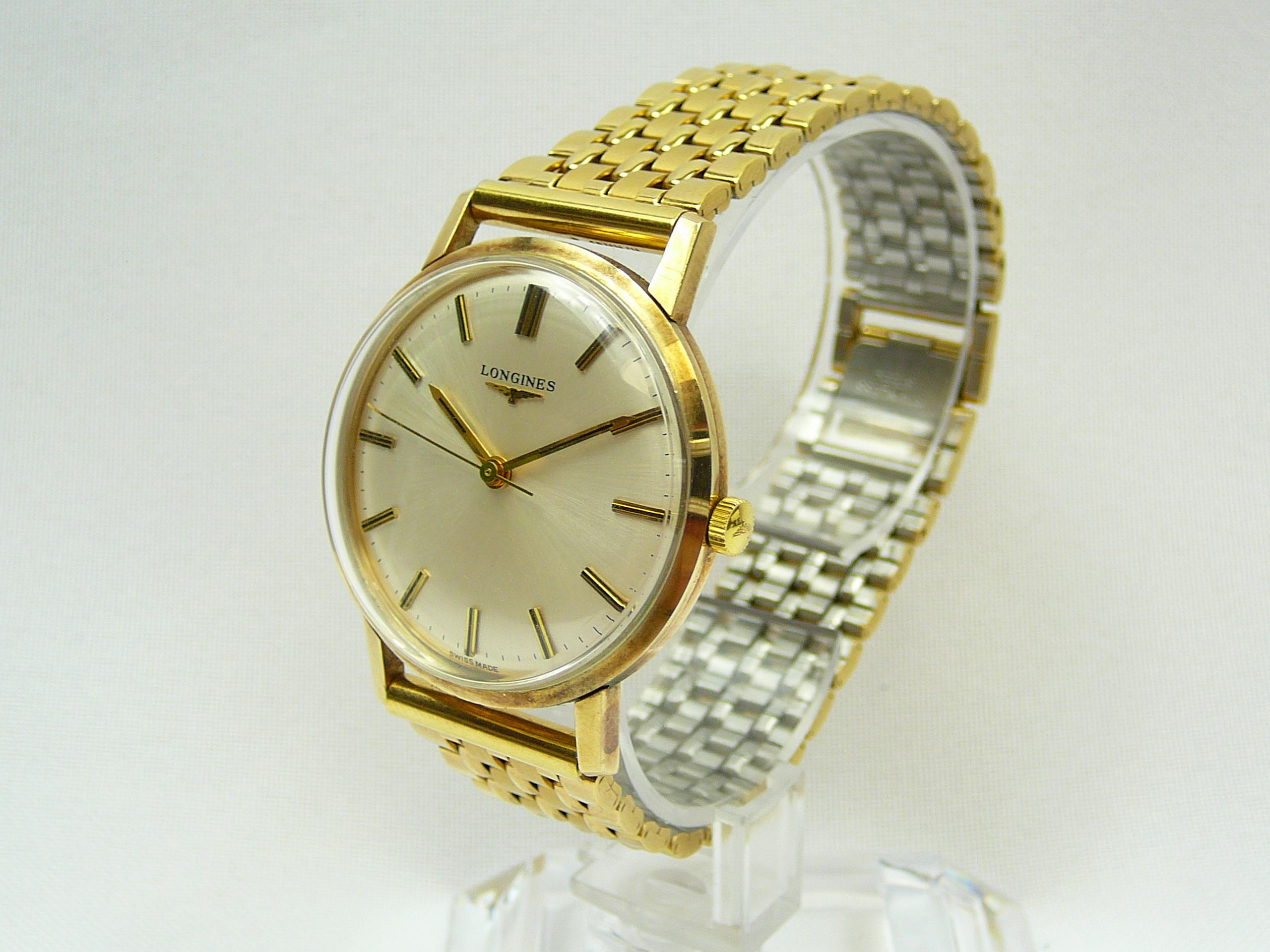 Gents Vintage Gold Longines Wrist Watch