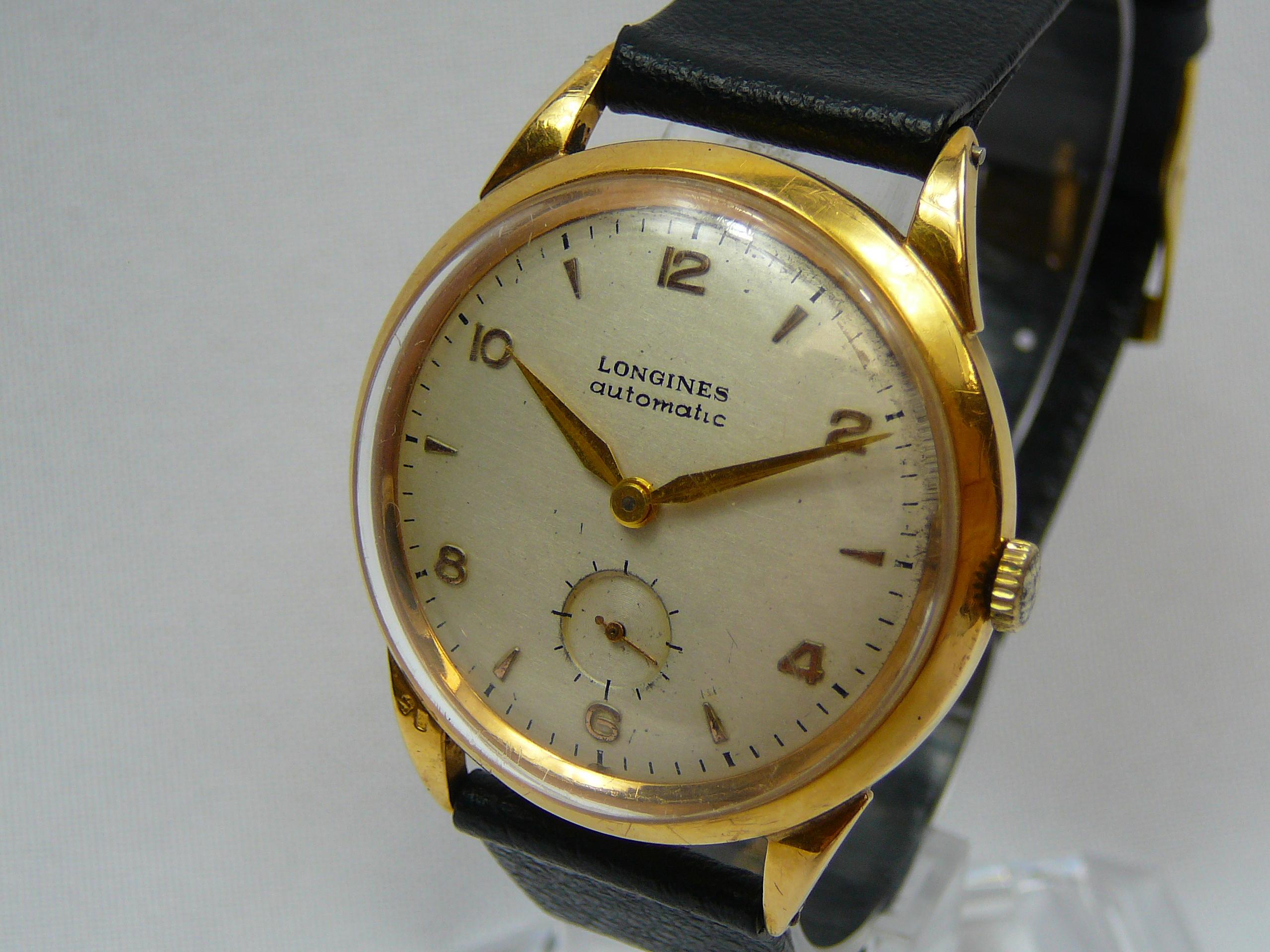 Gents Vintage Gold Longines Wrist Watch - Image 2 of 3