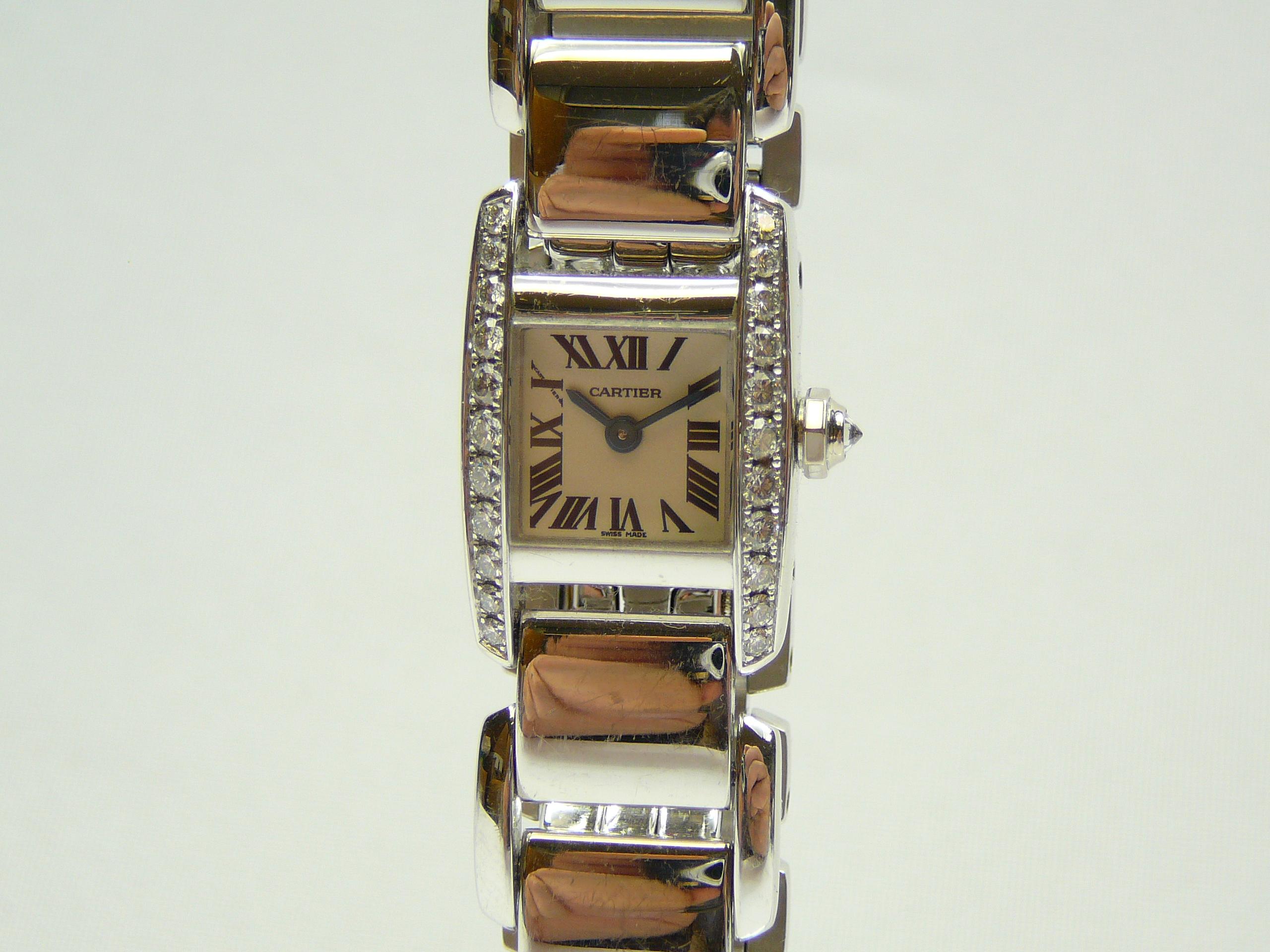Ladies Gold Cartier Wrist Watch - Image 2 of 5
