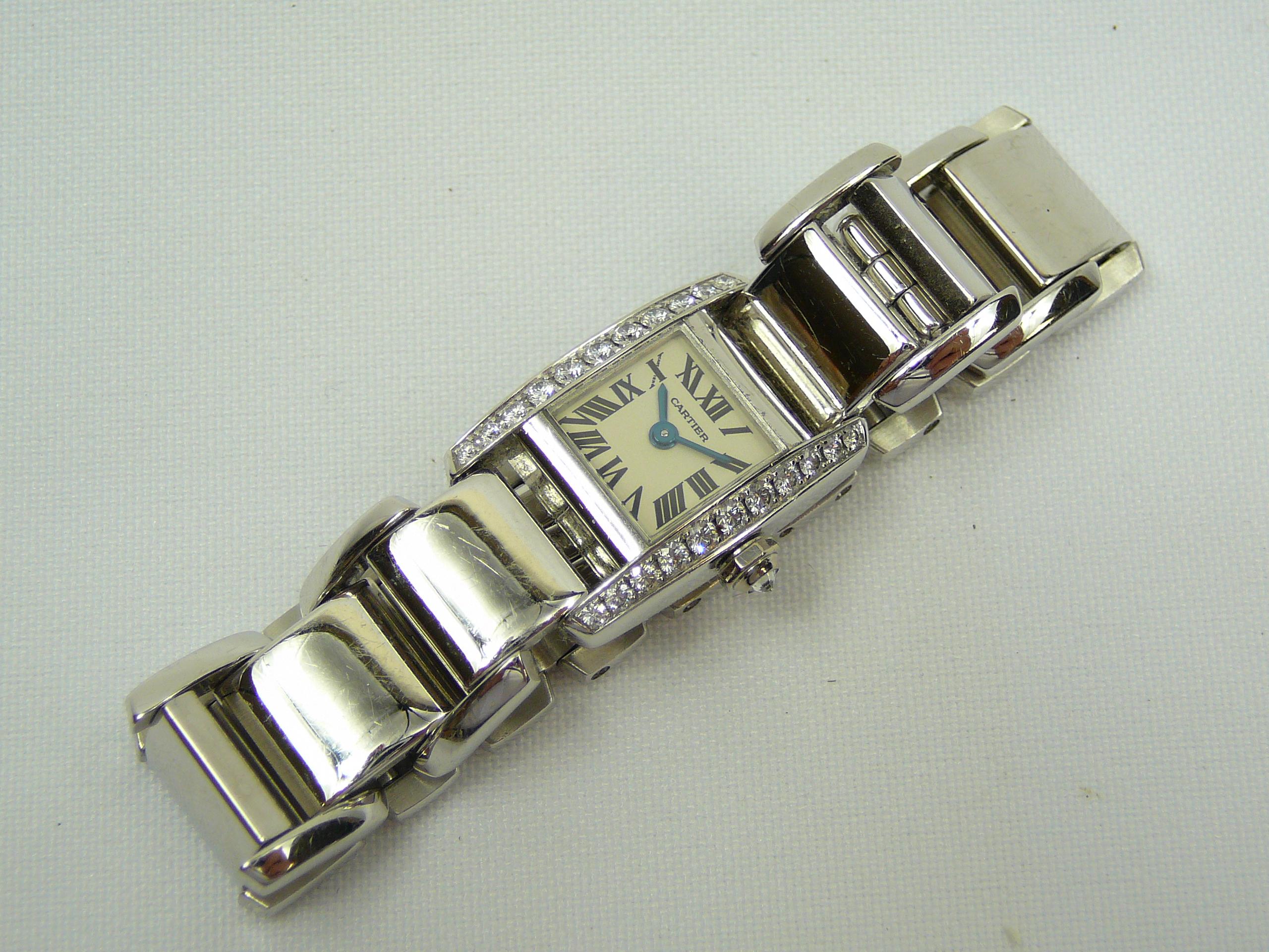 Ladies Gold Cartier Wrist Watch - Image 3 of 5