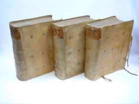 Set of 3 Vellum bound early 17th Century in German